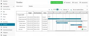 Gantt Chart Darstellung bei OpenProject